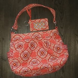 Vera Bradley Retired Paprika Reversible Hobo Set